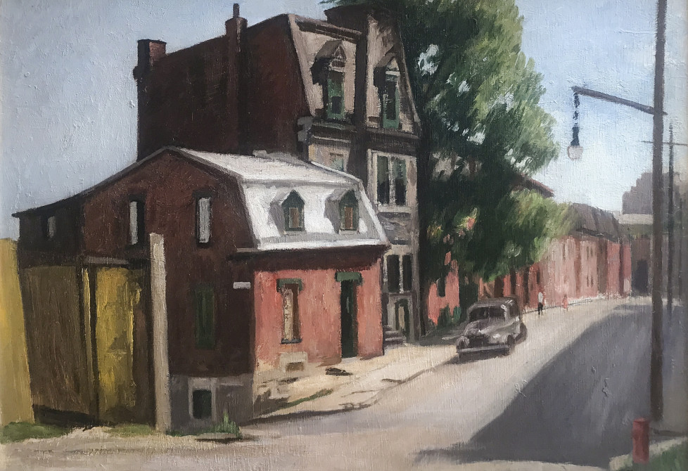 Ernst Neumann's Painting of A Historic City Street
