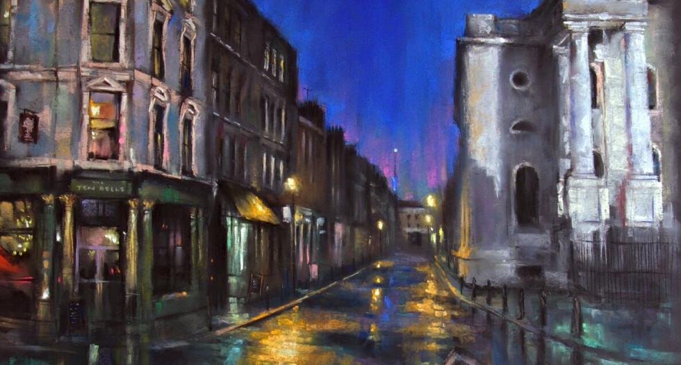 FOURNIER STREET , SPITALFIELDS - Original By Marc Gooderham