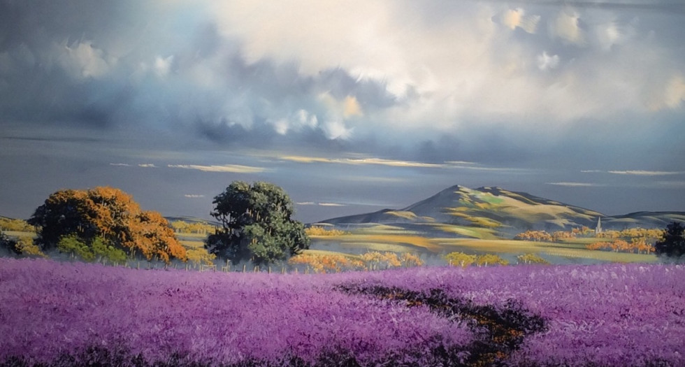LAVENDER WALK BY ALLAN MORGAN