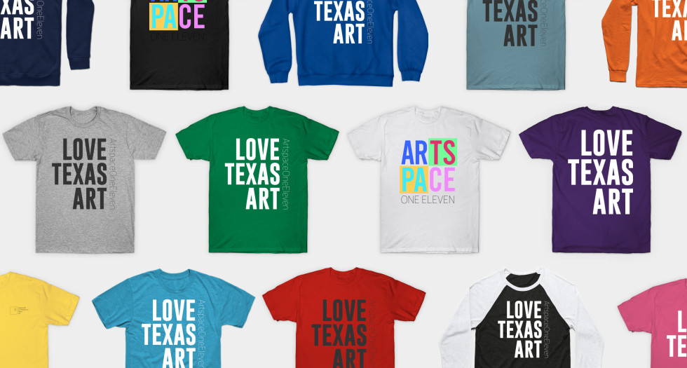 LOVE.TEXAS.ART. These are Artspace111's favorite things! You can show the love and support EASL by ordering from our TeePublic shop!