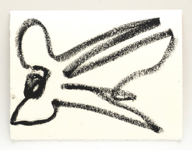 Joan Jonas, Reanimation performance drawing (Bird Drawing), 2014