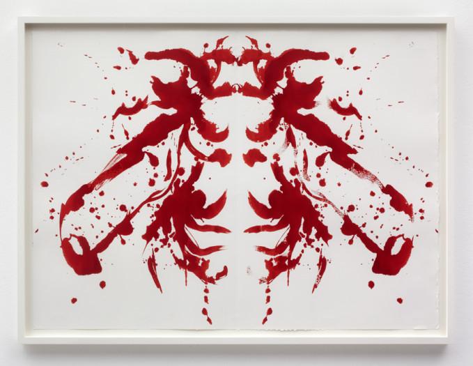 Joan Jonas, Red Bee Drawing II, 2013
