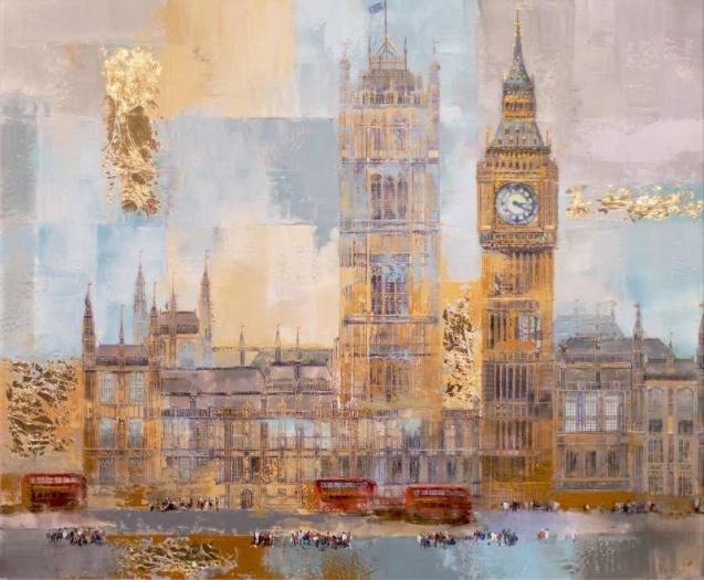 Veronika Benoni, Busy Day In London - Commission, 2019