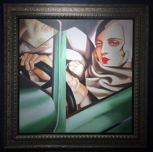 Tamara De Lempicka - Self Portrait In A Green Bugati