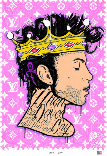JJ Adams, Where Doves Cry - Prince/Rock Icon Stamp, 2020