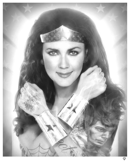 JJ Adams, Wonder Woman B/W, 2018