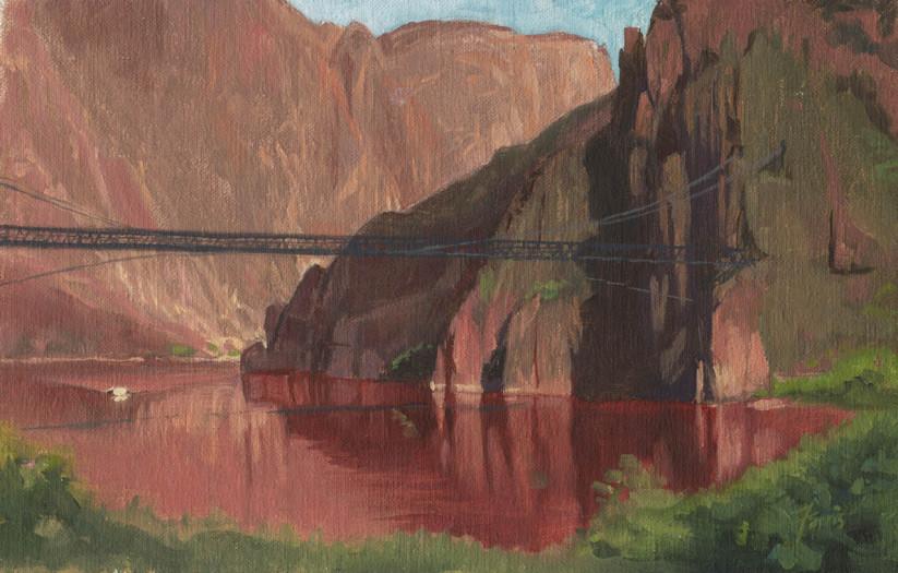 Dennis Farris, Morning Arrival, Grand Canyon (study)