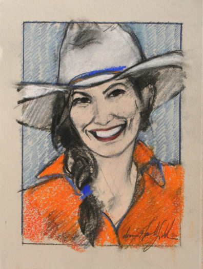 Donna Howell-Sickles, Cowgirl Study 106