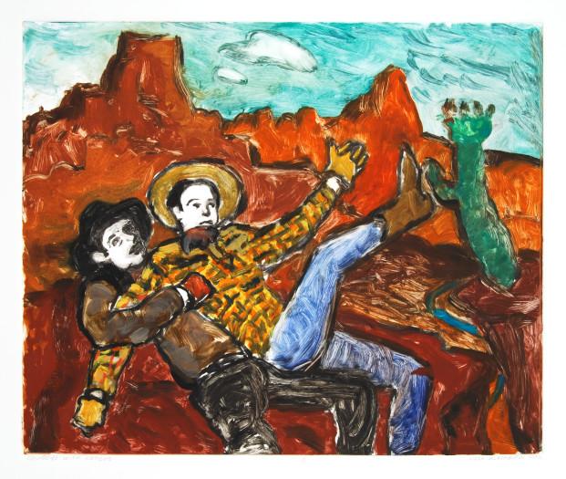 Linda Blackburn, Cowboys and Cactus, 2002