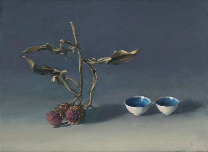 Carol Ivey, Cardoon with Two Cups, 2015