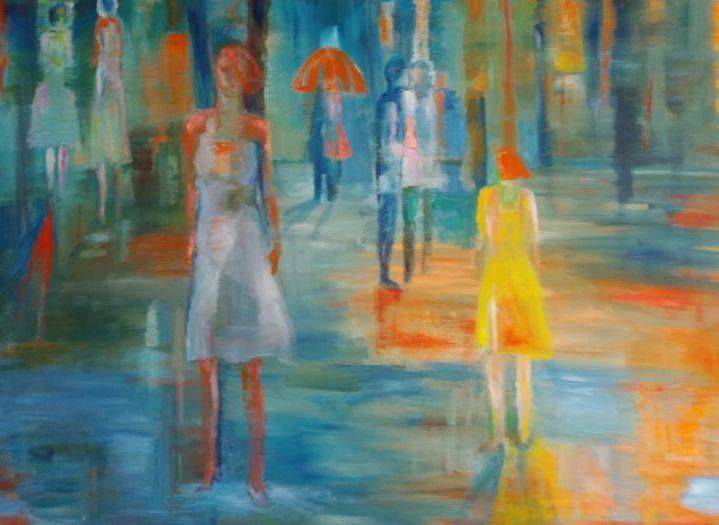 Gloria Webster, A Walk in the Rain, 2020