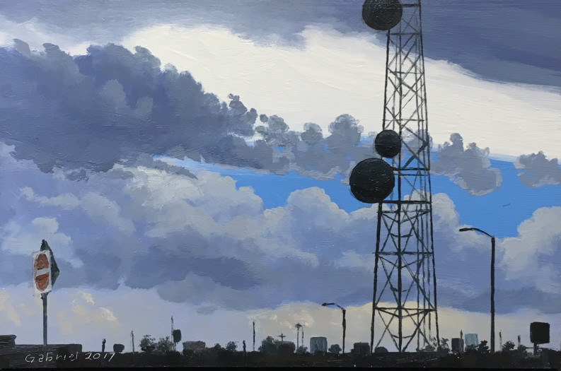 Pat Gabriel, Sky and Tower, 2017