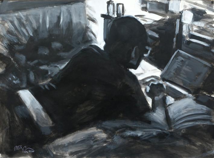 Ron Crouch, Programming Man (BW version), 2020