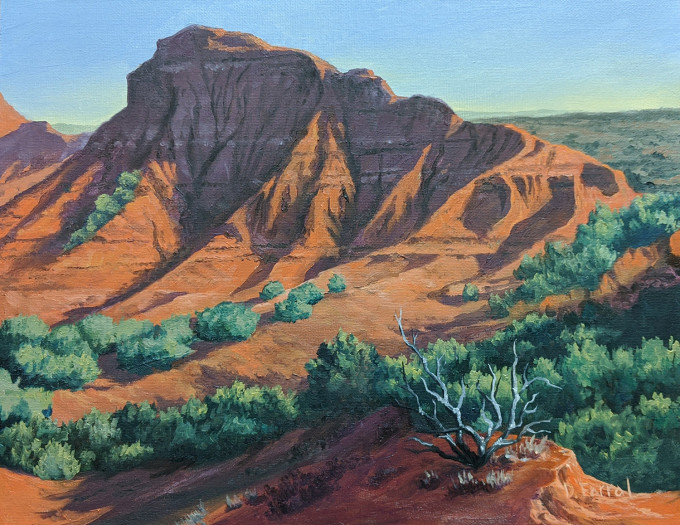 Darya Farral, A View of Caprock Canyon, 2020