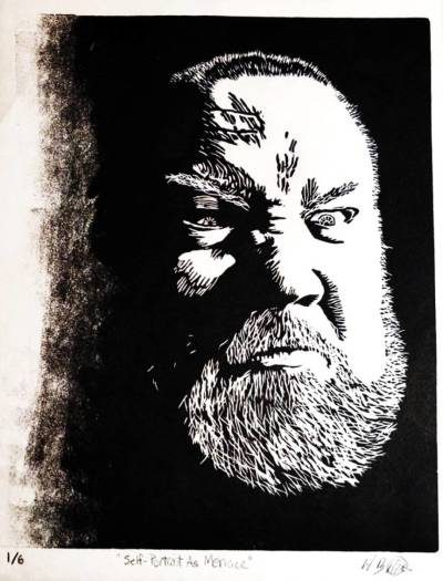 William West, Self-Portrait As Menace, 2020