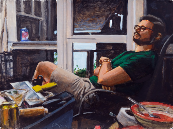 Ron Crouch, Man on porch, 2019