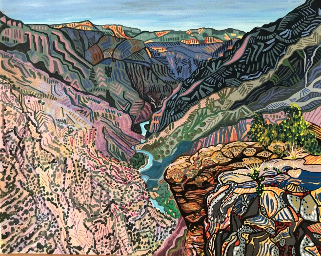 Betsy Horn, Sunset View Overlook, Black Canyon, 2019