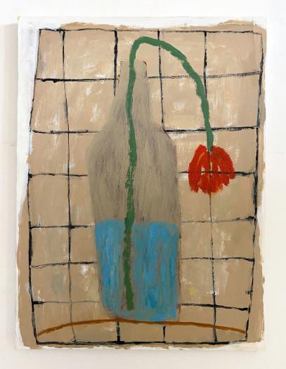 Negar Ghiamat, The Red Tulip, 2021