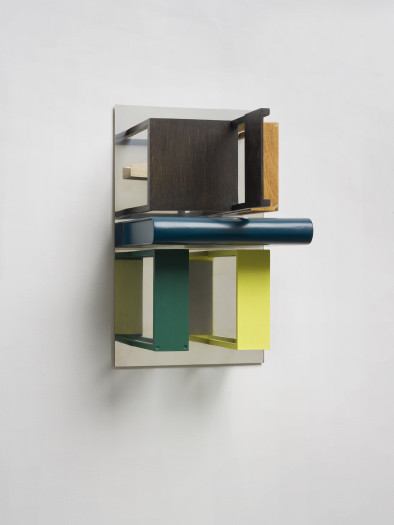 Nahum Tevet, Double Mirrors (With Yellow & Green), 2013