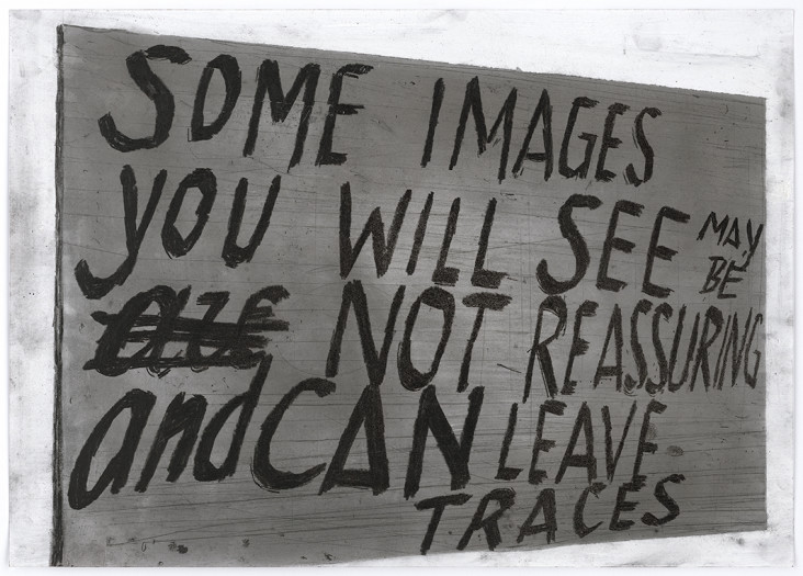 Peter Morrens, Untitled (Some images you will see may be not reassuring and can leave traces), s.d.