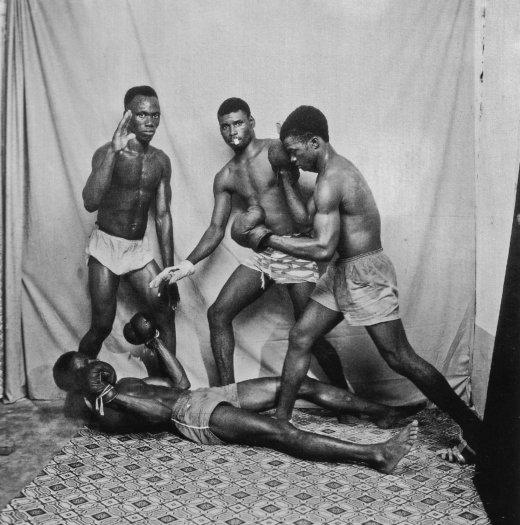 Malick Sidibé, Boxeurs en Demonstration, 1965 / 2010