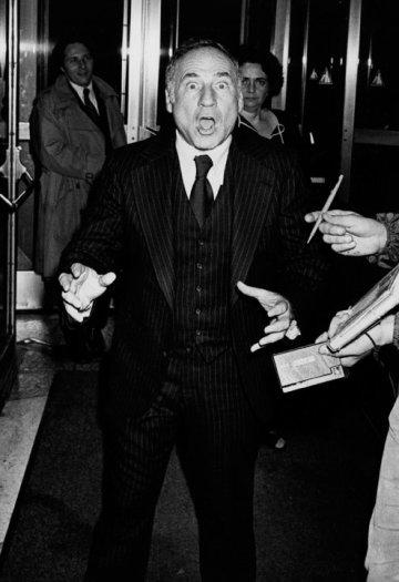 Ron Galella, Mel Brooks at the premiere of Golda, Moresco Theatre, New York, November 6, 1977