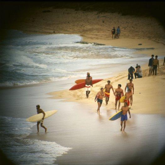 LeRoy Grannis, Duke Contest Finalists, Sunset Beach, 1968