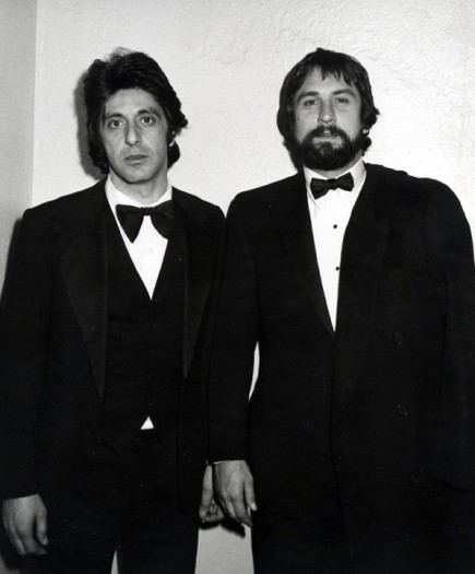 Al Pacino and Robert DeNiro attend the party for Night of 100 Stars at the New York Hilton Hotel, New York, February 14