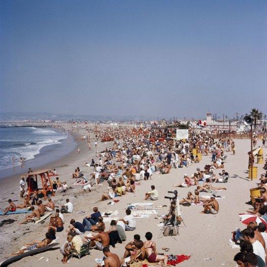 LeRoy Grannis, The World Surfing Contest, Ocean Beach, San Diego, 1966