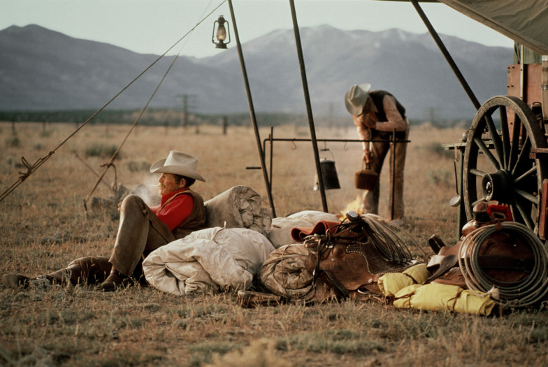 Norm Clasen, Making Camp, Cortez, CO, 1986