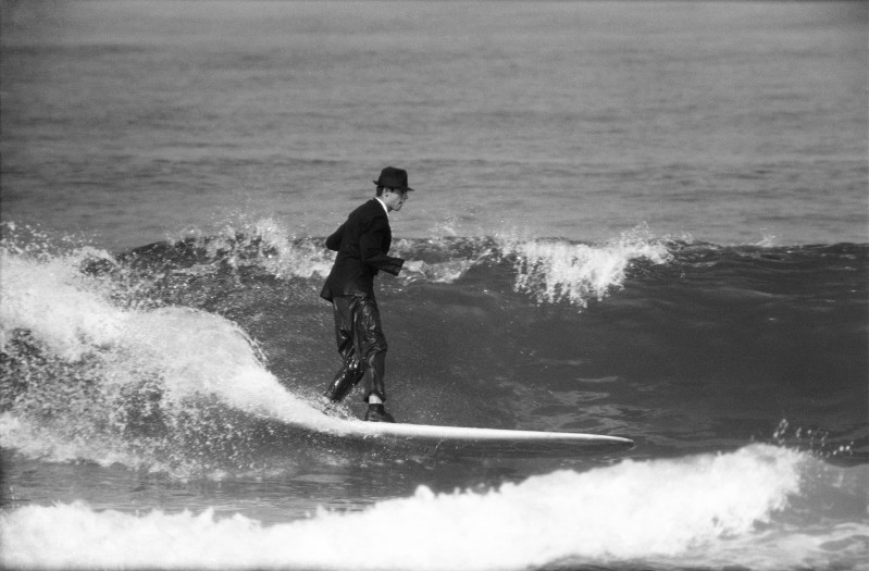 LeRoy Grannis, Ricky Hatch for Jacobs Surf Boards, Hermosa Beach, 1961