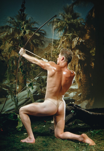 Bob Mizer, Richard Pursley (as archer), Los Angeles, 1952