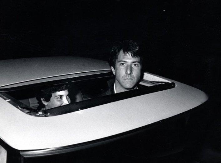 Dustin Hoffman outside Chasen's Restaurant, Beverly Hills, CA, October 7