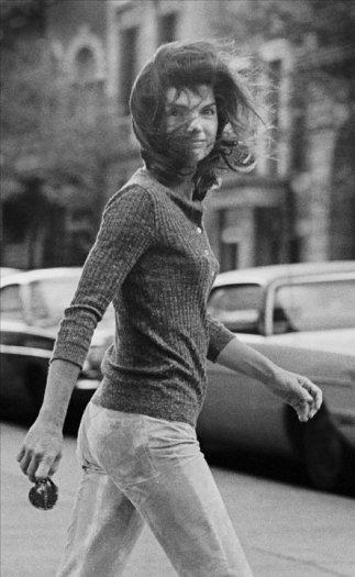 """""""Windblown Jackie"""" – Jackie Onassis on Madison Avenue, New York"""
