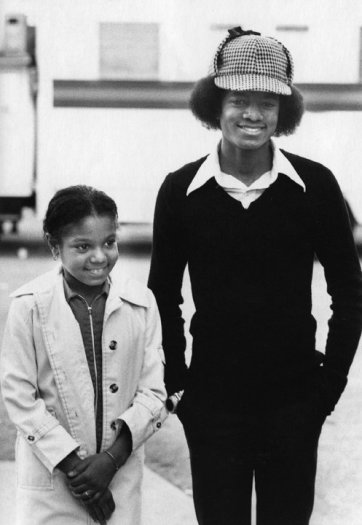Janet and Michael Jackson at the American Music Awards, Los Angeles, January 31