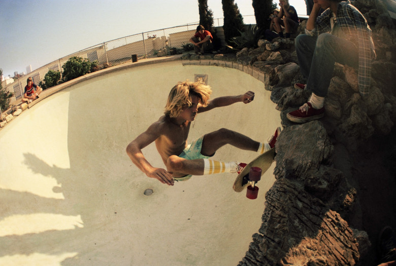 Hugh Holland, On the Rocks at Arthur's Pool, Santa Monica, 1976
