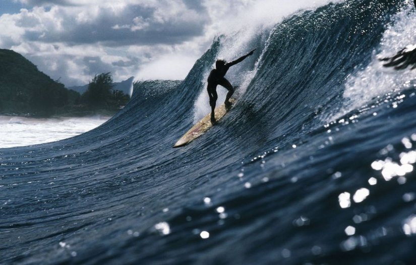 LeRoy Grannis, Rory Russell, Pipeline, Oahu, 1972
