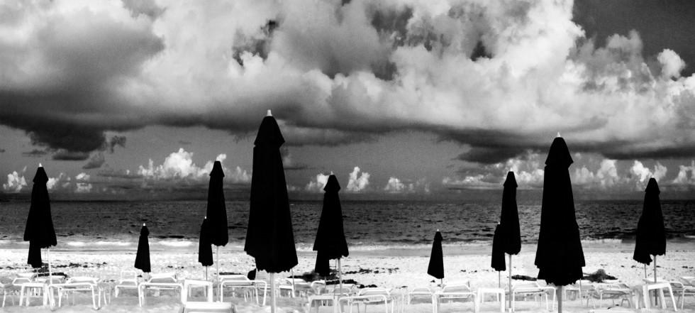 Untitled (Umbrellas on Beach)