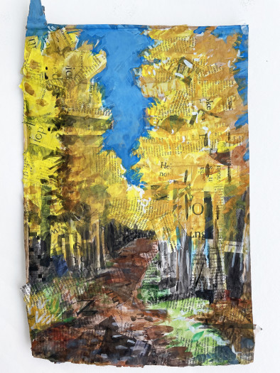 E. Tilly Strauss, Larch Path on way to Tasche, 2020