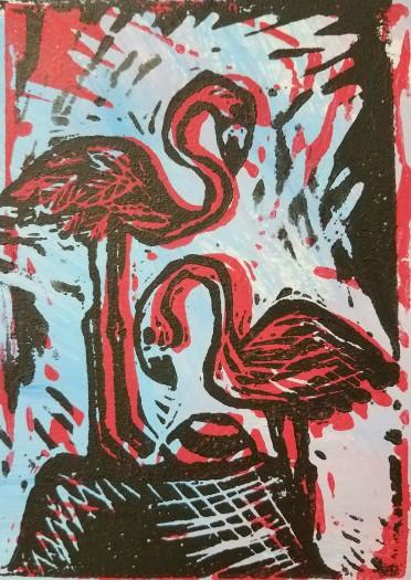 E. Tilly Strauss, Flamingo Nest, 2012