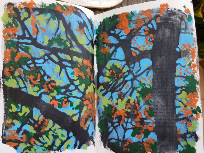 E. Tilly Strauss, Flamboyant Trees Sketch, 2017