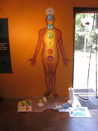 Yoga Warrior Studio Mural