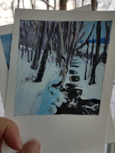 E. Tilly Strauss, Winter Creek, 2019