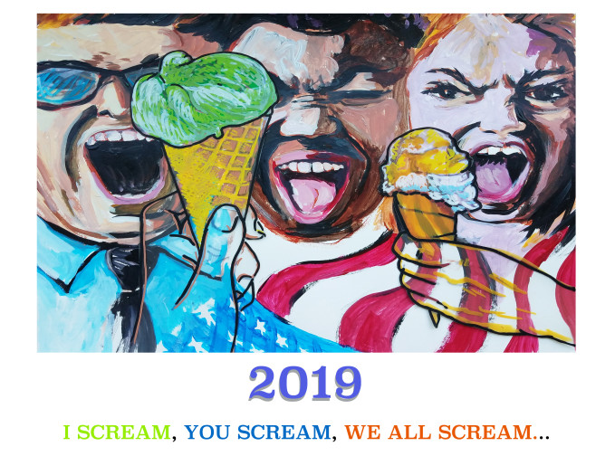 E. Tilly Strauss, 2019 Screaming Calendar, 2018