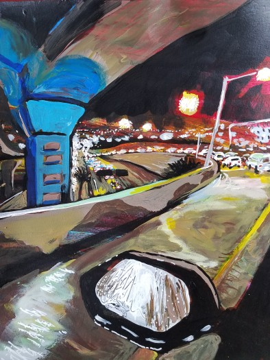 E. Tilly Strauss, Underpass at Night, 2018