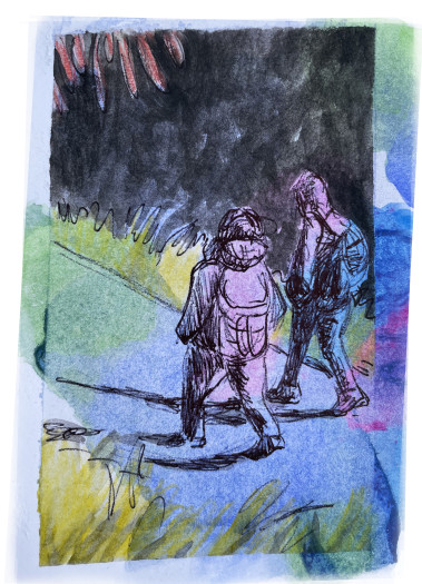 E. Tilly Strauss, Hikers, 2020
