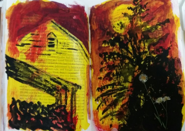 E. Tilly Strauss, Barn Moon Sketch, 2016