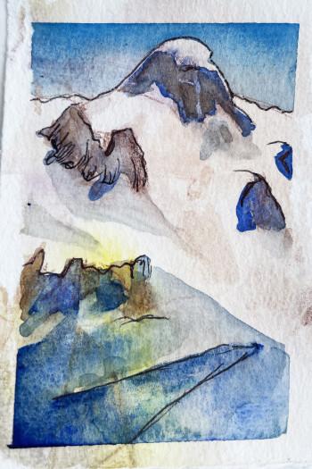 E. Tilly Strauss, Mountain Snow Shadows, 2020