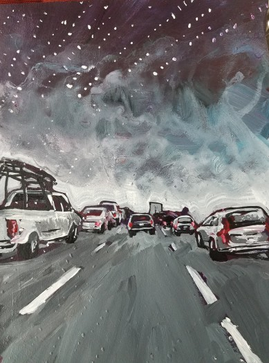 E. Tilly Strauss, Starry Night Traffic Jam, 2018