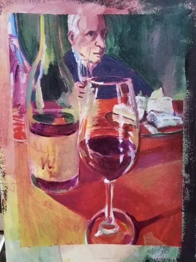 E. Tilly Strauss, Wine Tasting, 2018
